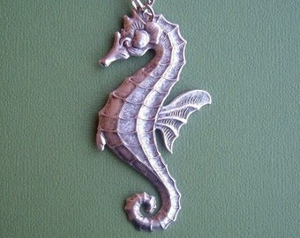 Seahorse Necklace Victorian Style