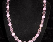 "Pink and More Pink Beaded Necklace So Pretty 30% OFF COUPON CODE ""savemoney"""