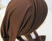 STORE CLOSING SALE Brown Knit Lycra Infinity Snood