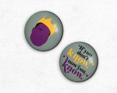 Magnets - Notorious B.I.G. Original Illustrated 1 in. Magnet set of 2