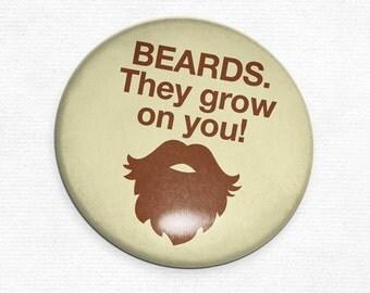Beards They Grow on You Pocket Mirror