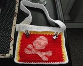 Bag  Jolly Lock  Key mini messenger bag Lock Cross Bones nautical pirate case