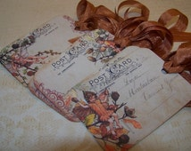 Fairy Tags Autumn Fairy Tags Autumn Place Cards Thanksgiving Place Cards - Set of 6