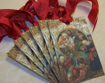 Christmas Tags - Nativity - Religious - Set of 6