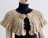 PDF Crochet Pattern- Easy Stitch Crochet Cape and Capelet