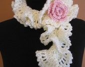 PDF Crochet Pattern- Ruffles and Lace Eyelet Foundation Accessories (4 different designs)