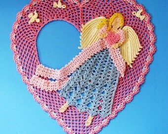 PDF Crochet Pattern- Angel of Love Doily