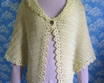 PDF Crochet Pattern- Angel Wings Comfort or Prayer Shawl