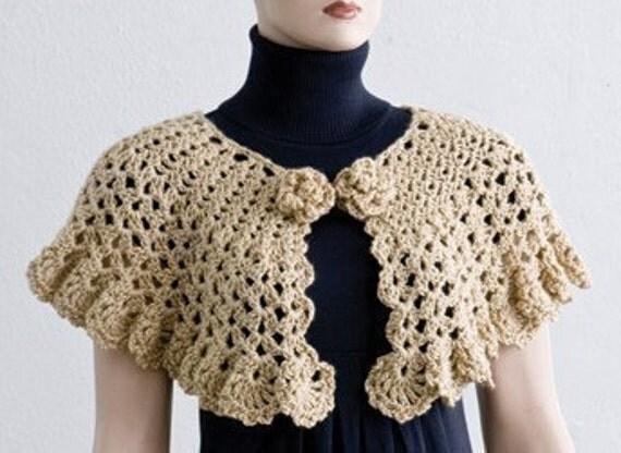 pdf crochet pattern easy stitch crochet cape and capelet. Black Bedroom Furniture Sets. Home Design Ideas