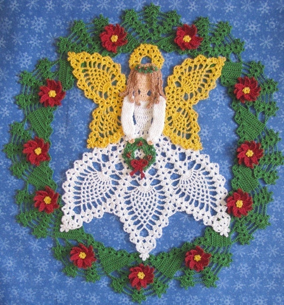 Pdf Crochet Pattern Tidings Of Joy Christmas Doily