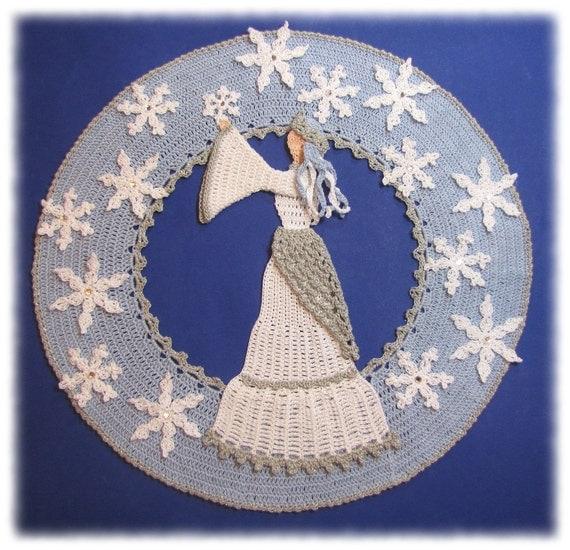 PDf Crochet Pattern- Snow Queen Doily