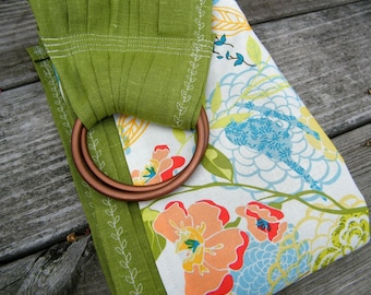 Cedar Green Linen with Accent --Unique and Bold--