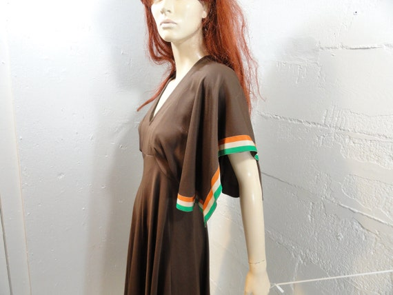 70s Dress / Vintage 1970s Boho Angel Sleeve / S