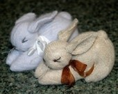 Reserved for KimberlyRSullivan ..... Sweet Little Sweater Bunny... Lilac Waldorf Style Eco Wool (woolcrazy)