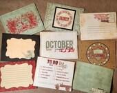 Set of 9 Autumn Inspiration Scrapbook accents, tags, jourrnal spots