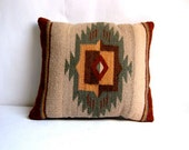 Vintage Colorful Wool Navajo Pattern Throw Pillow