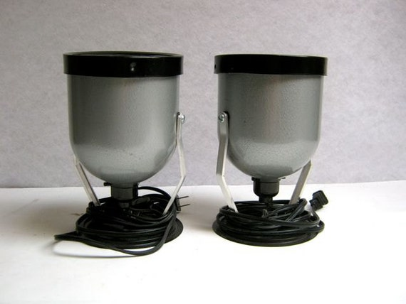 reserved for brassbunny vintage set of 2 1950s darkroom Safelights