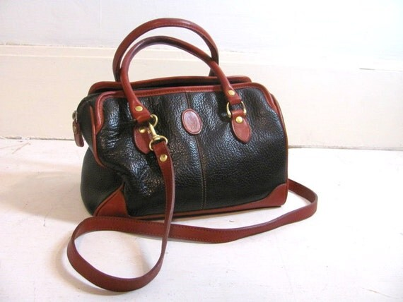 vintage leather handbag cross body purse