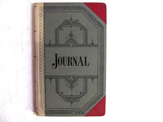 Antique Journal Book / Diary / Ledger