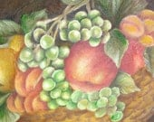 Fruits oil painting on a 20 x 16 canvas. Original painting. Ready to ship