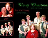 Reserved for Corl Family- Black background portrait Holiday Card (multiphoto)