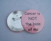 Cancer is NOT the boss of me pink