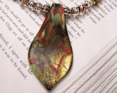 Dichroic Necklace and Earrings
