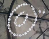 Crackle Quarts Necklace, Bracelet, and Earrings