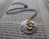 Namaste - Hand Stamped Necklace