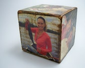 Custom-Made Distressed Picture Blocks, Vacation Memories
