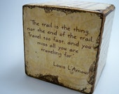 Custom-Made Distressed Picture, Quote Block