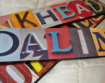 Custom-Made Picture Letters Name Signs, Unique Christmas Gift