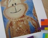 Kids Wall Art, Animal Cracker Monkey - Print - 8x10