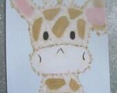 Etsy Children, Kids Wall Art, Giraffe Print, 8x10