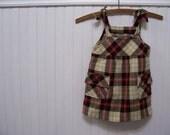 Vintage Toddler Brown Wool Harvest Jumper