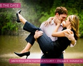 Pearsonalized Photo Save the Date Card- 3 Many different Color Options
