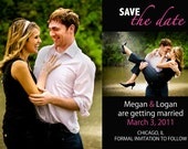 Photo Save the Date Card 2 - many different color options