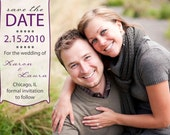 Photo wedding save the date cards 1- Many color options available