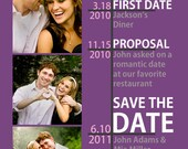 Timeline Save the Date - Many color options available