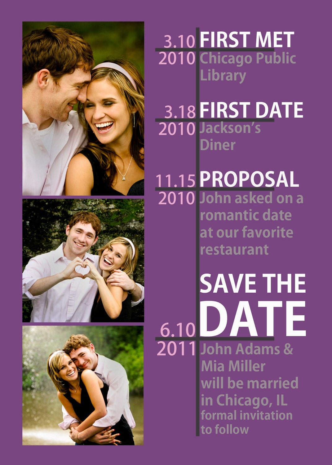 timeline save the date many color options available 🔎zoom