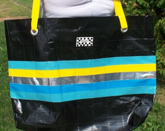 on sale.  Reduced price.Ready to ship Duct Tape Tote