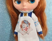 LoLLiPoPPeT Blythe PriNcEss RaNgE CLOWN circus BaBy DoLL DrEsS, VinTagE PriNT SALE