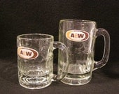 TWO A & W Root Beer Vintage Mugs