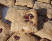 Dog Treats - Cranberry Nut Barks - - All Natural Dog Treats Organic Vegetarian - Shorty's Gourmet Treats
