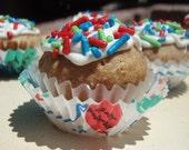 Gourmet Dog Treats - Happy Birthday Pupcakes - All Natural Organic Dog Treats Vegetarian - - Shorty's Gourmet Treats