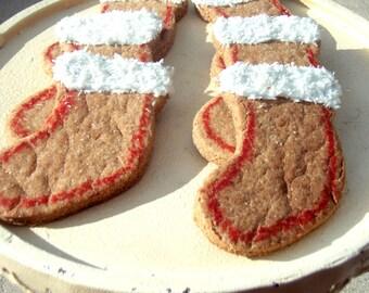 Holiday Dog Treats - Santa's Stockings - Organic Dog Treats All Natural Vegetarian - - Shorty's Gourmet Treats
