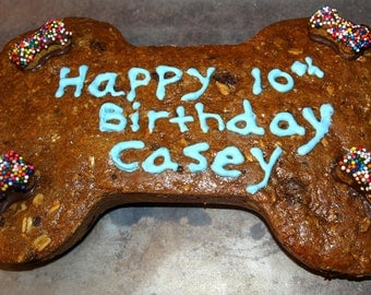 Gourmet Dog Treats - Happy Birthday Cookie Cake - All Natural Dog Cake Dog Treats Organic Vegetarian - Shorty's Gourmet Treats