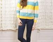 1950s Carolina Pastel Sweater M