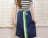 Betsy Wrap and Bow Tie Navy Skirt  XS - M