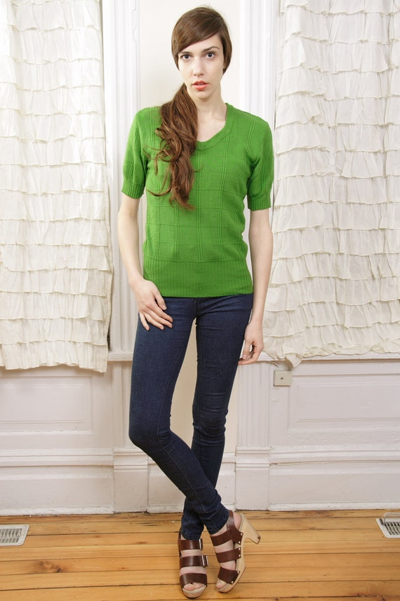 Leap Frog and Water Lily Green Sweater